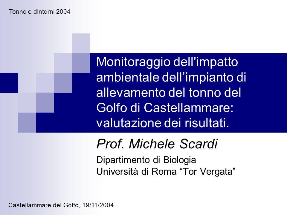 Monitoraggio dell'impatto ambientale dellimpianto di allevamento del tonno del Golfo di Castellammare: valutazione dei risultati. Prof. Michele Scardi