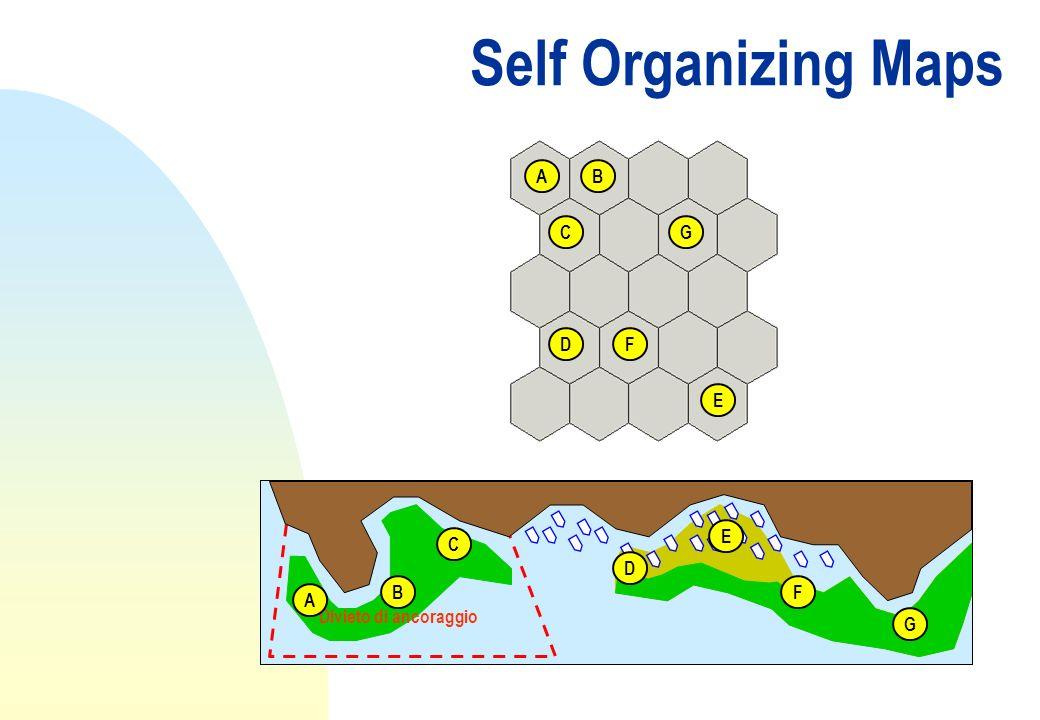Self Organizing Maps Divieto di ancoraggio A B C D E F G AB C D E F G