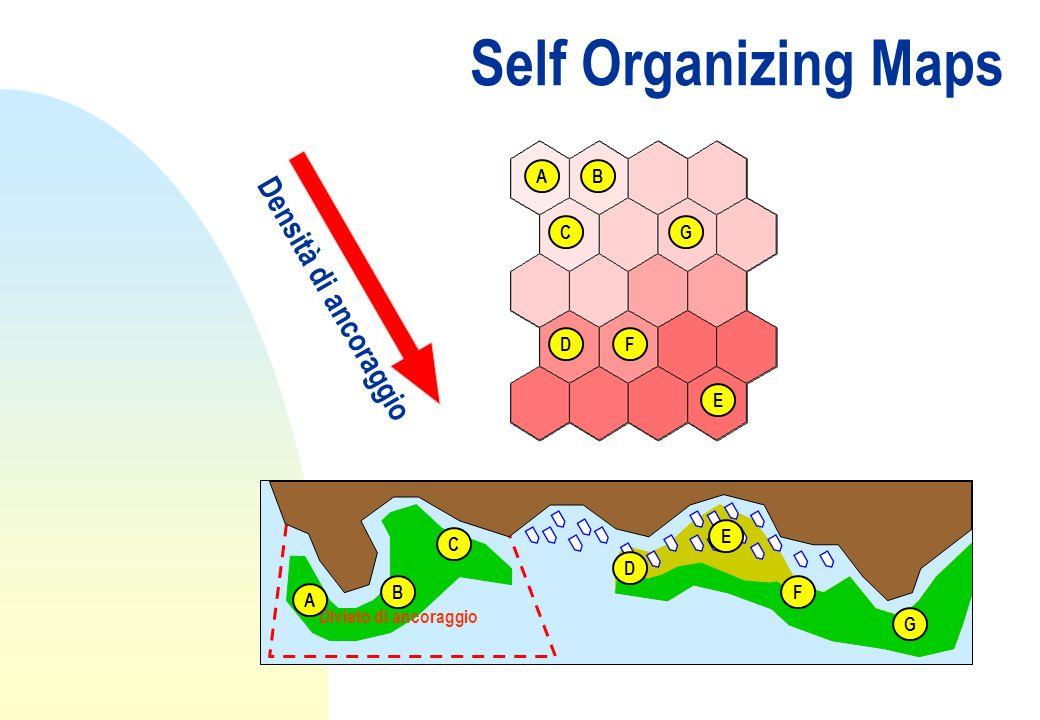 Self Organizing Maps Divieto di ancoraggio A B C D E F G AB C D E F G Densità di ancoraggio