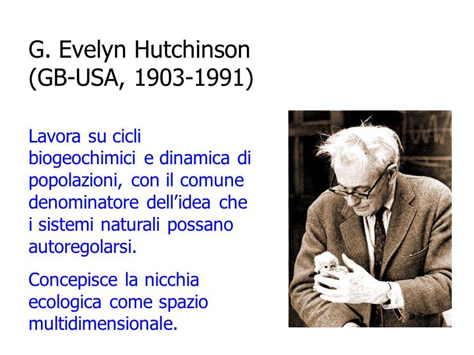 Charles Elton (UK, 1900-1991) Concepisce la nicchia ecologica come ruolo trofico di una specie (chi mangia cosa).