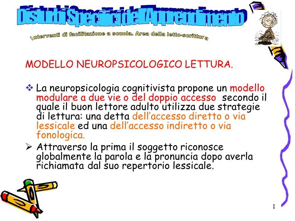 1 MODELLO NEUROPSICOLOGICO LETTURA.