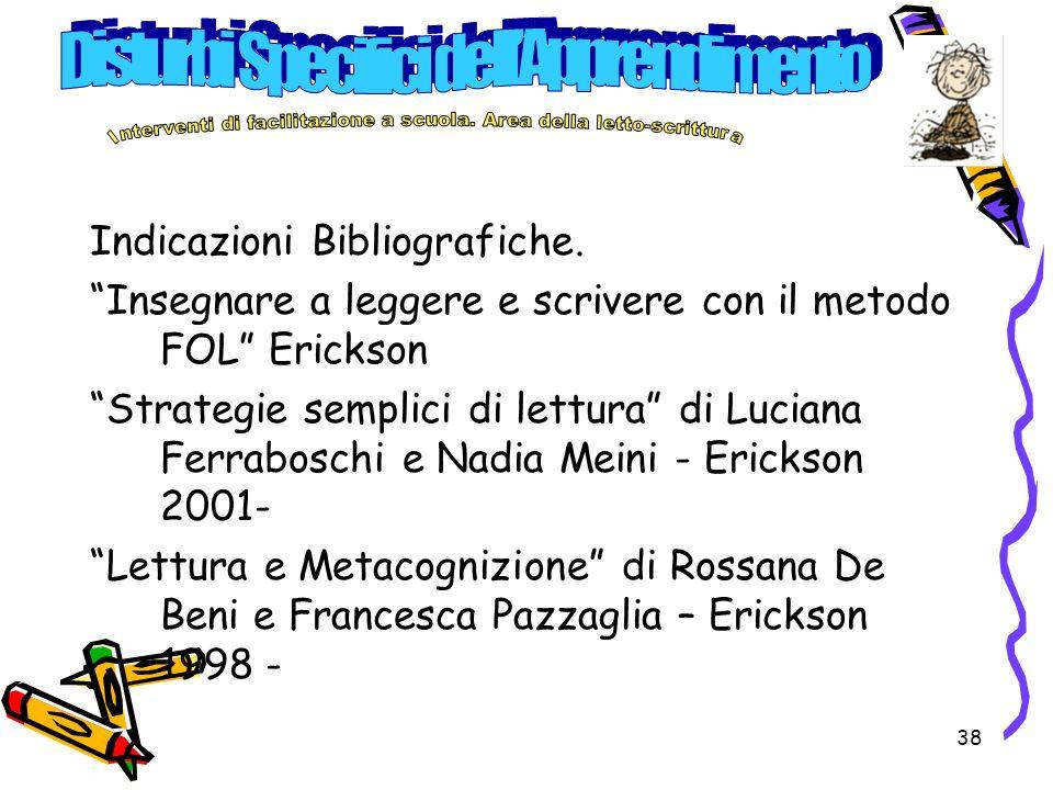 38 Indicazioni Bibliografiche.