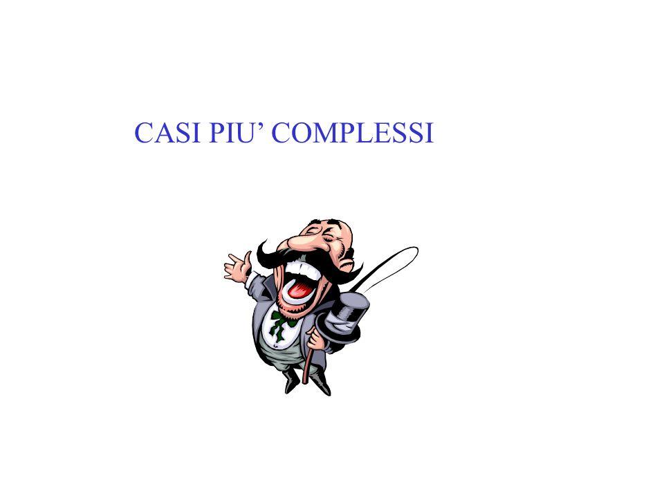CASI PIU COMPLESSI
