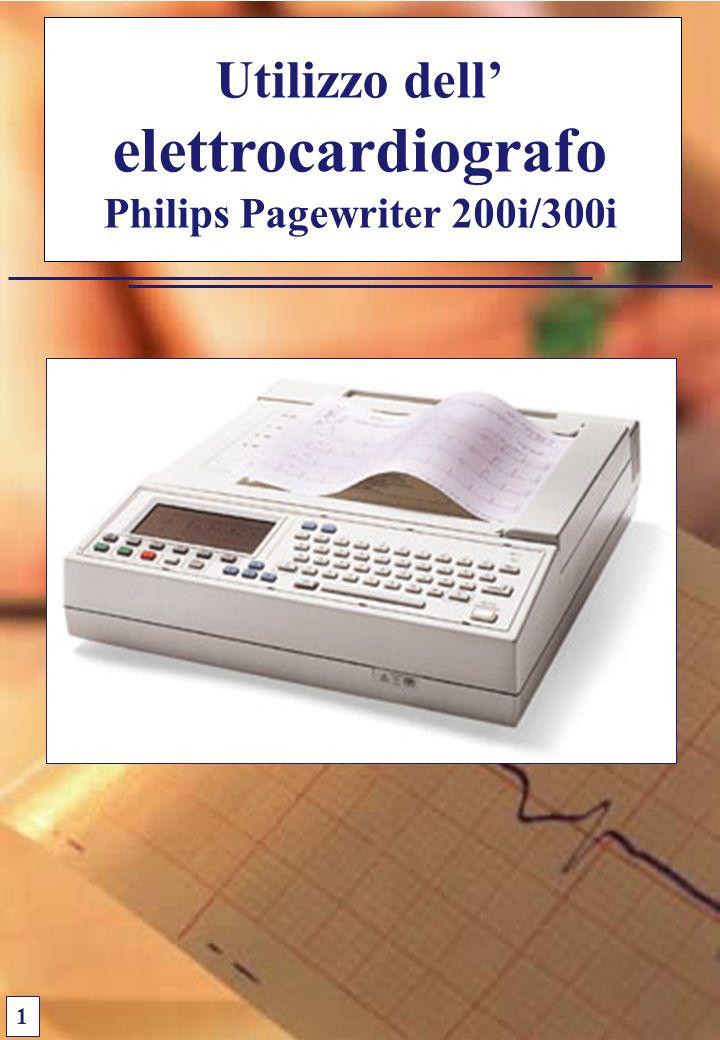 Utilizzo dell elettrocardiografo Philips Pagewriter 200i/300i 1