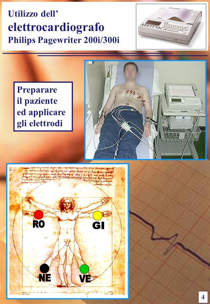 Utilizzo dell elettrocardiografo Philips Pagewriter 200i/300i 4 Preparare il paziente ed applicare gli elettrodi