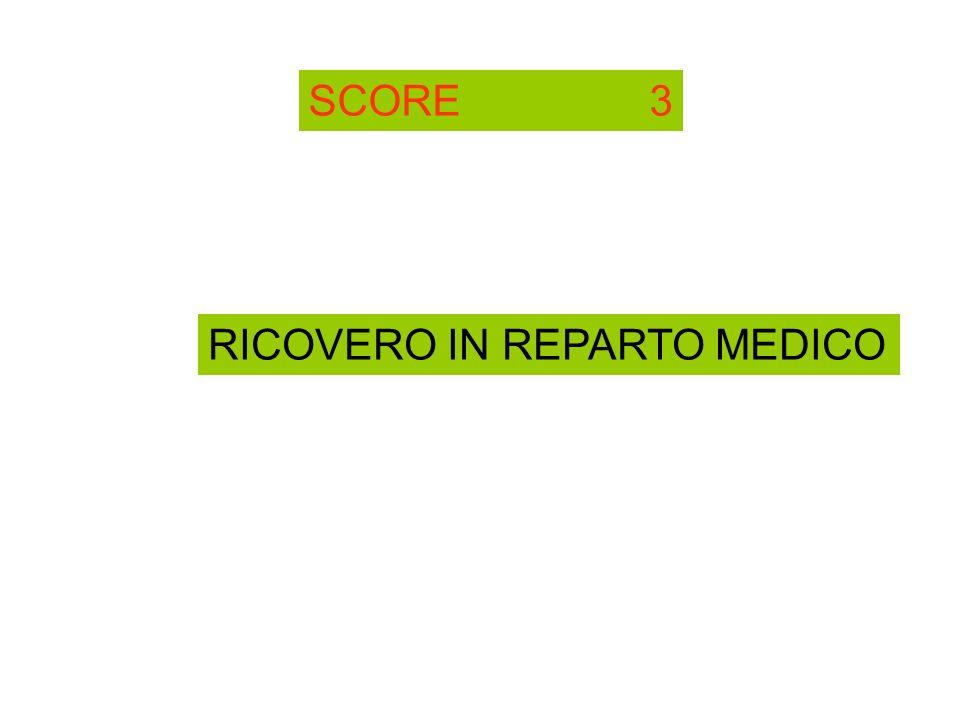 SCORE 3 RICOVERO IN REPARTO MEDICO