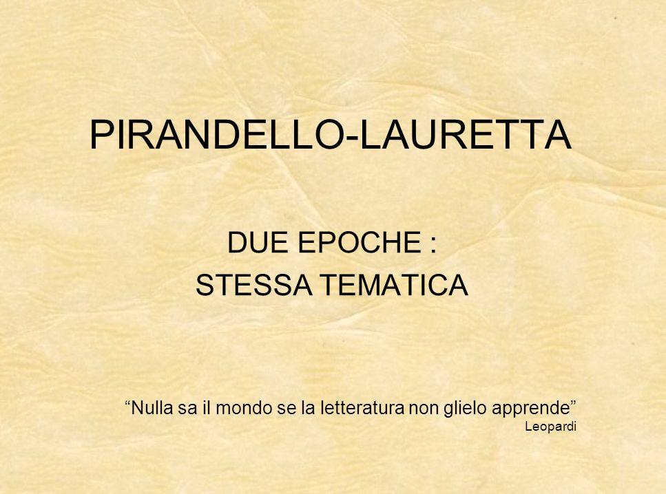 Vite a confronto Studi e vita Luigi Pirandello nacque ad Agrigento in Sicilia nel 1867.