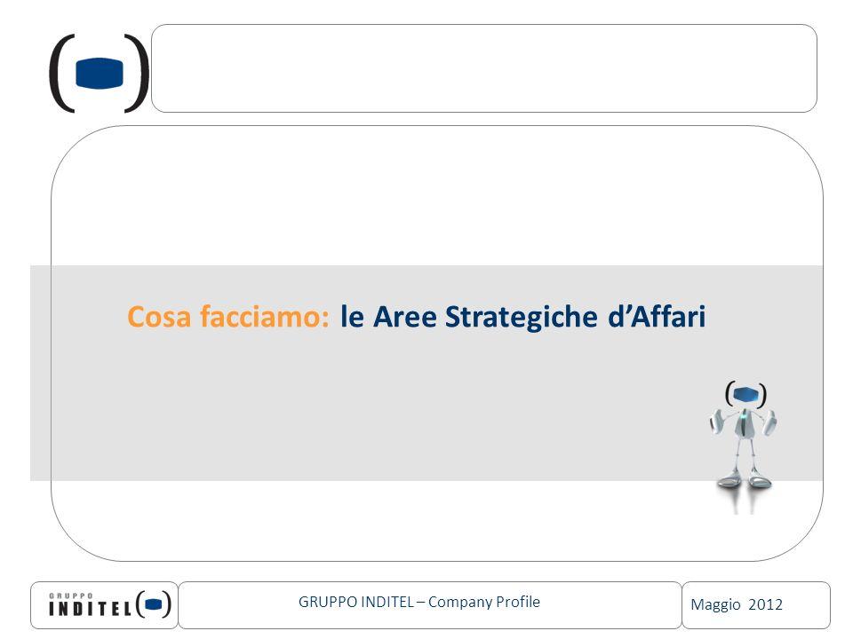 Maggio 2012 GRUPPO INDITEL – Company Profile Cosa facciamo: le Aree Strategiche dAffari