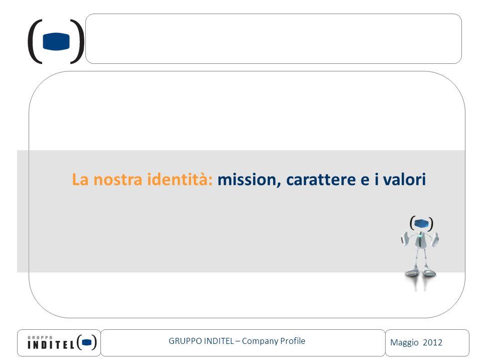 Maggio 2012 GRUPPO INDITEL – Company Profile La nostra identità: mission, carattere e i valori