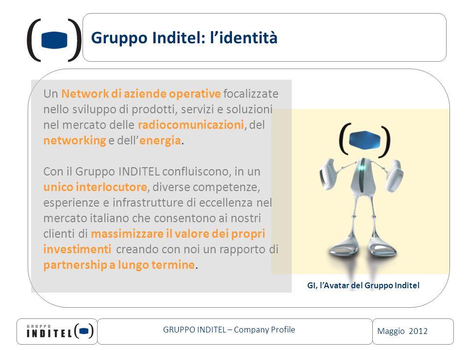 Maggio 2012 GRUPPO INDITEL – Company Profile Gruppo Inditel: lidentità GI, lAvatar del Gruppo Inditel Un Network di aziende operative focalizzate nell