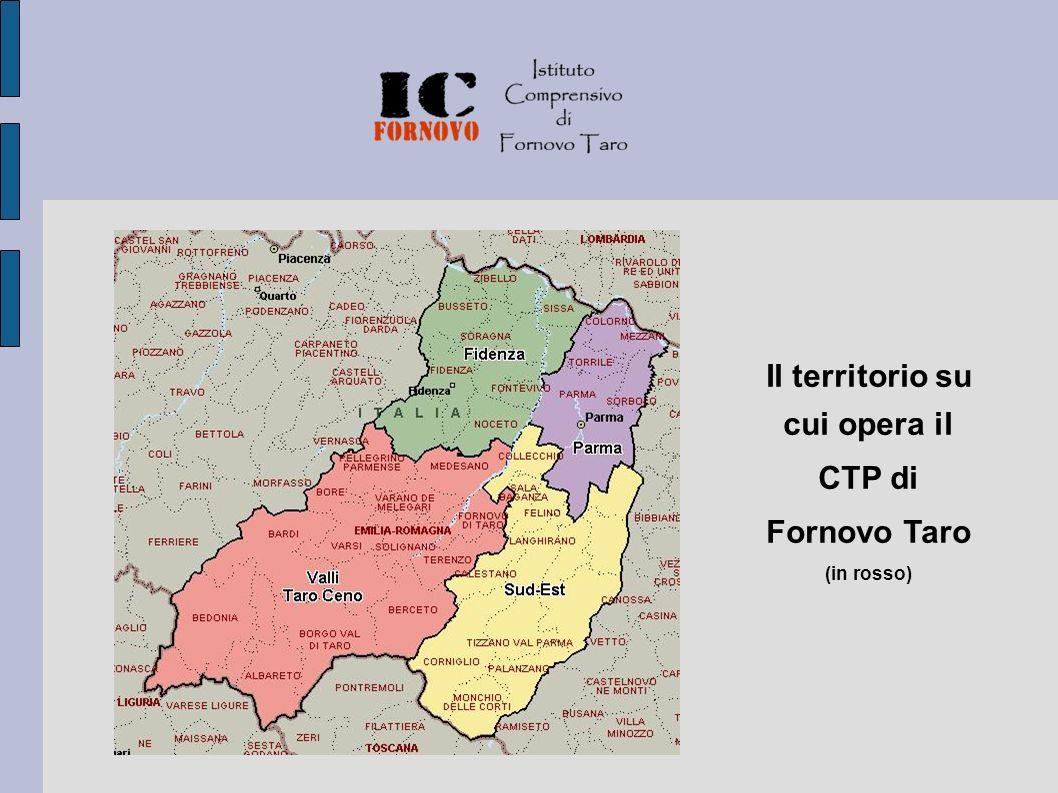 Il territorio su cui opera il CTP di Fornovo Taro (in rosso)