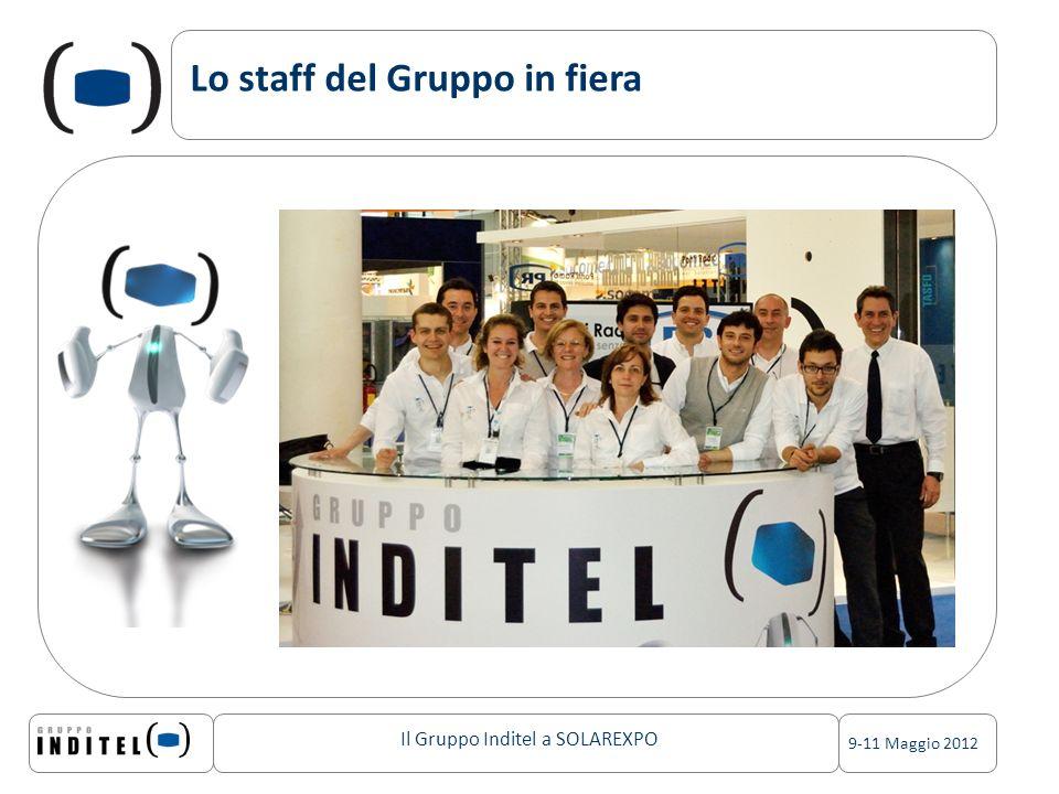 Il Gruppo Inditel a SOLAREXPO 9-11 Maggio 2012 Lo staff del Gruppo in fiera