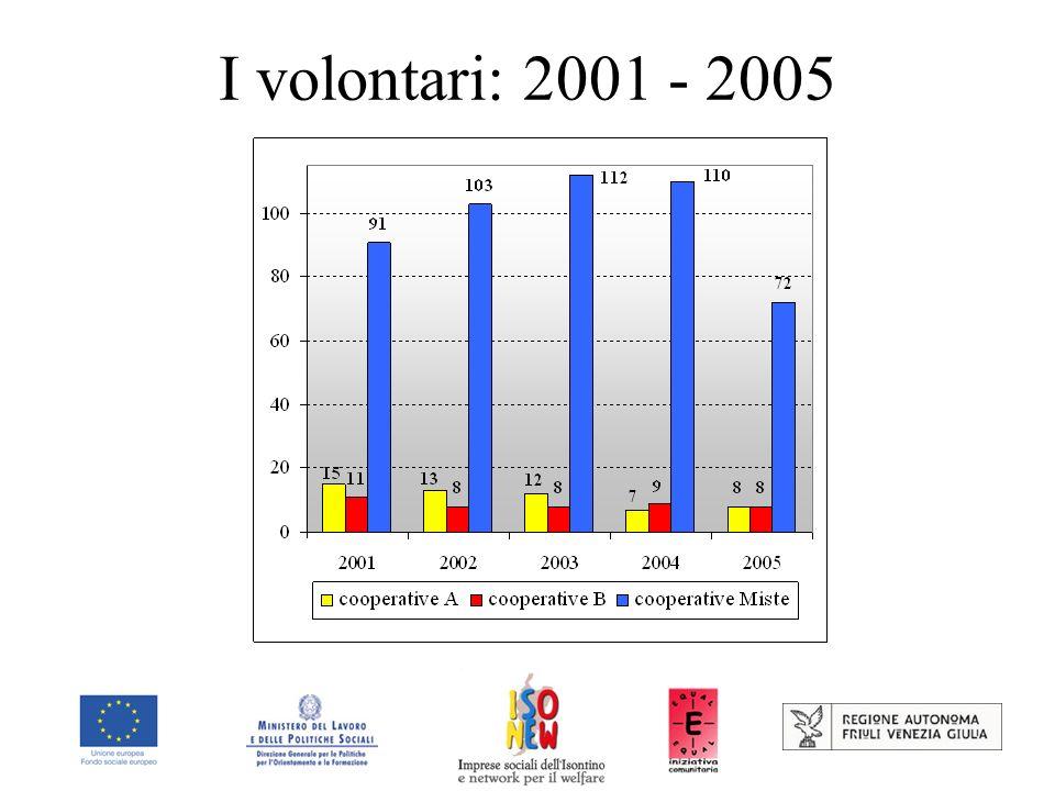 I volontari: 2001 - 2005