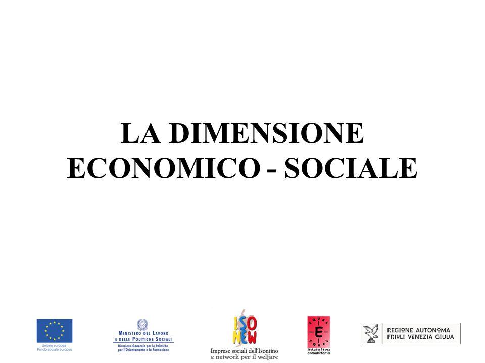 LA DIMENSIONE ECONOMICO - SOCIALE
