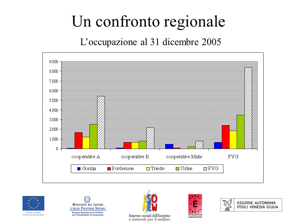 Un confronto regionale Loccupazione al 31 dicembre 2005