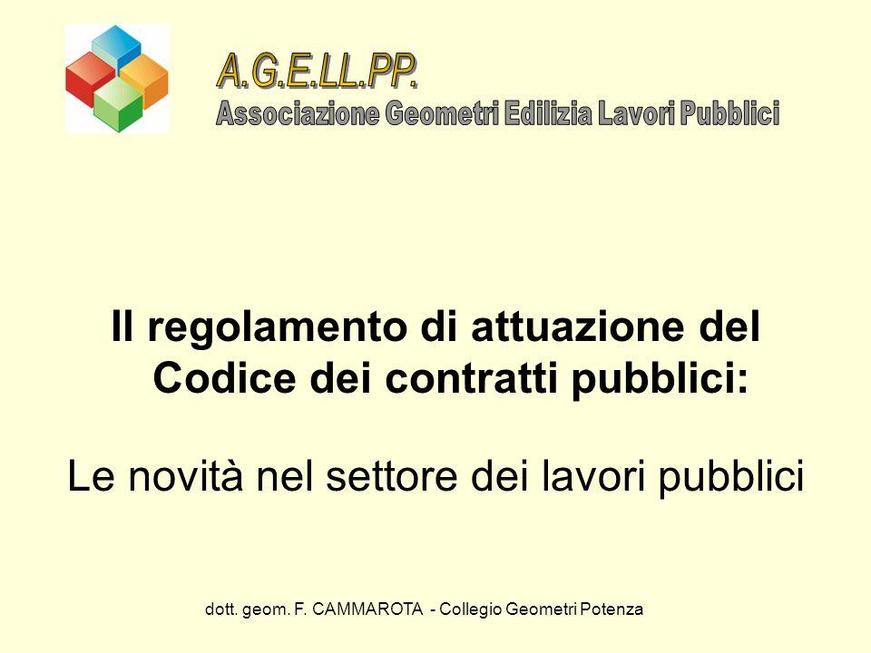 Il regolamento di attuazione del Codice dei contratti pubblici: Le novità nel settore dei lavori pubblici