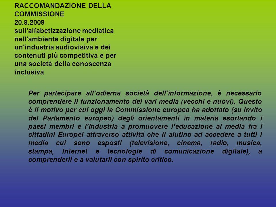 Per partecipare allodierna società dellinformazione, è necessario comprendere il funzionamento dei vari media (vecchi e nuovi).