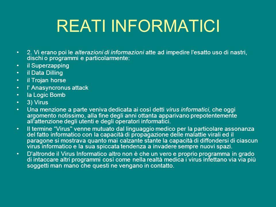 REATI INFORMATICI 2.