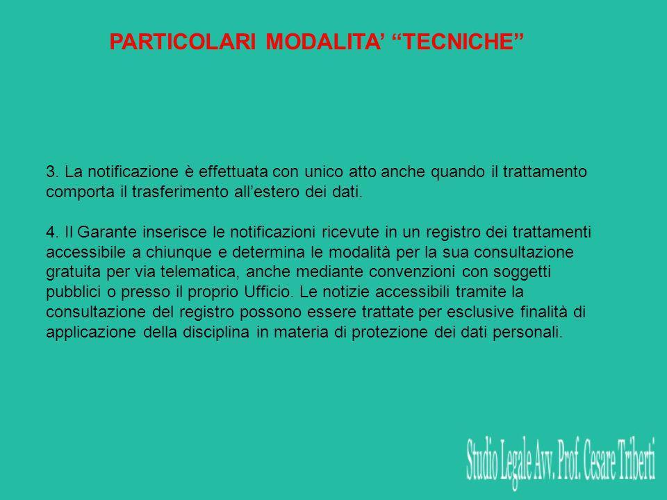 PARTICOLARI MODALITA TECNICHE 3.
