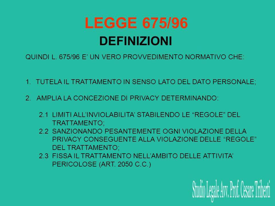 Art.37 (Notificazione del trattamento) 1.