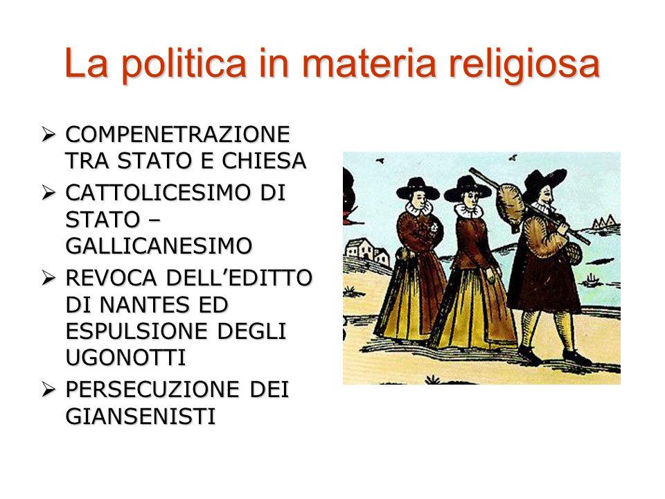 La politica in materia religiosa COMPENETRAZIONE TRA STATO E CHIESA COMPENETRAZIONE TRA STATO E CHIESA CATTOLICESIMO DI STATO – GALLICANESIMO CATTOLIC