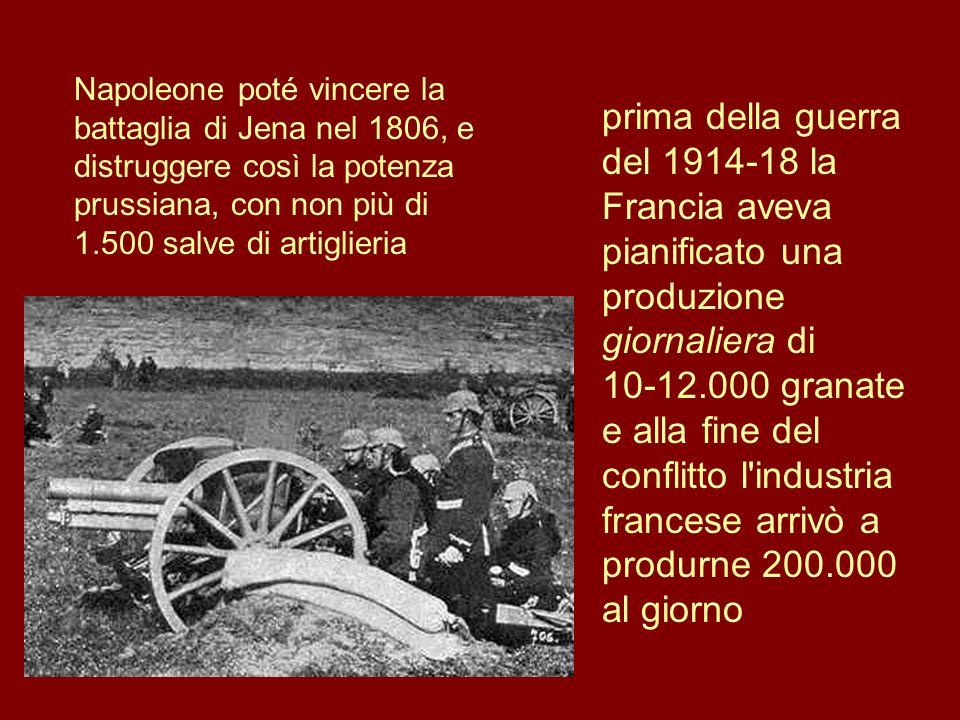 Napoleone poté vincere la battaglia di Jena nel 1806, e distruggere così la potenza prussiana, con non più di 1.500 salve di artiglieria prima della g