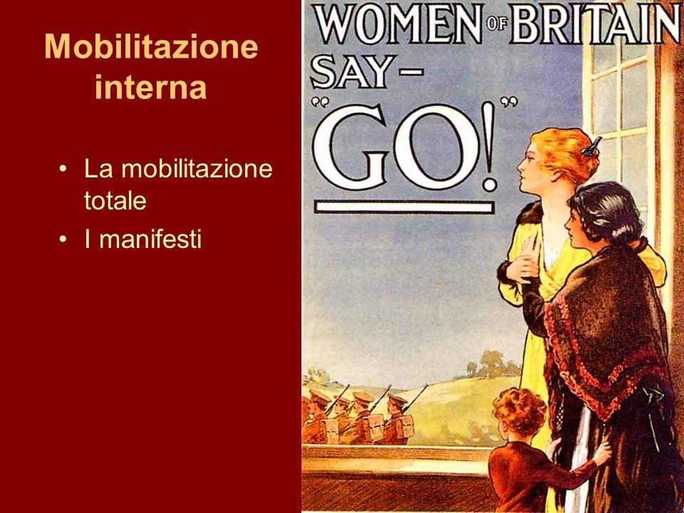 Mobilitazione interna La mobilitazione totale I manifesti