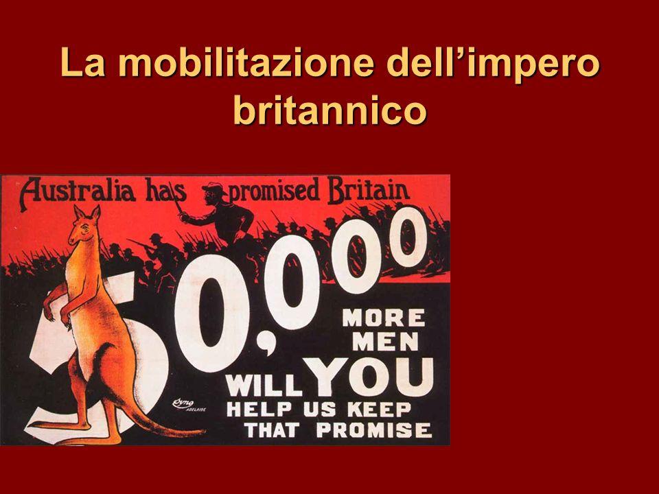 La mobilitazione dellimpero britannico