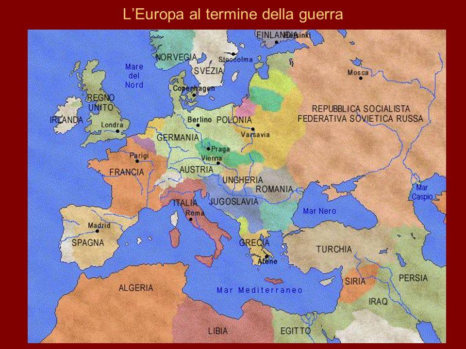 LEuropa al termine della guerra