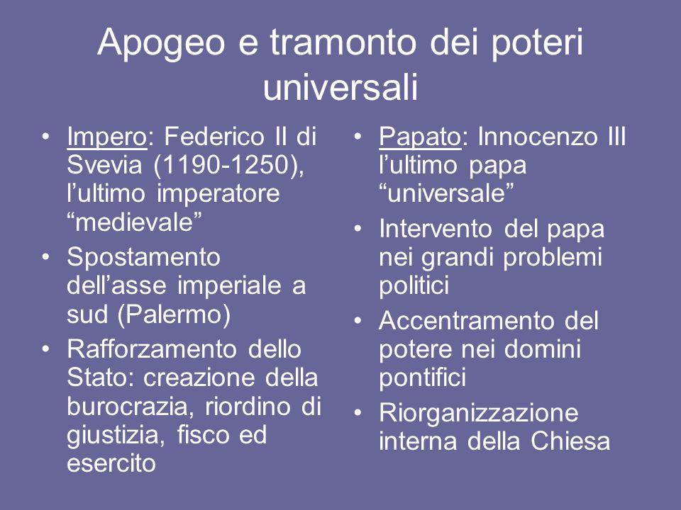 Lo scontro tra i poteri universali Federico II vs.
