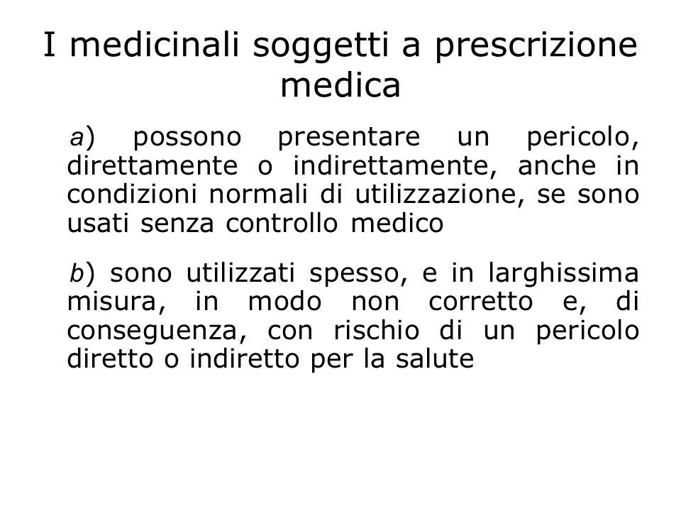I medicinali soggetti a prescrizione medica a ) possono presentare un pericolo, direttamente o indirettamente, anche in condizioni normali di utilizza