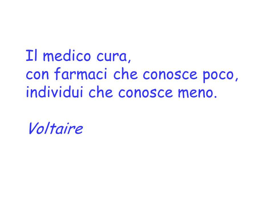 Il medico cura, con farmaci che conosce poco, individui che conosce meno. Voltaire
