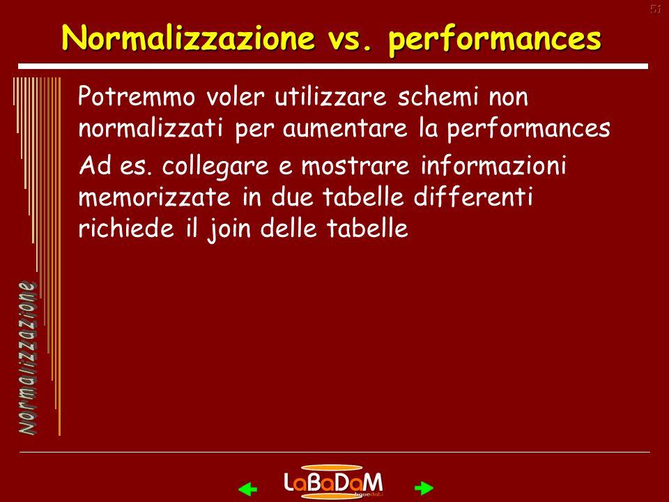 51 Normalizzazione vs.