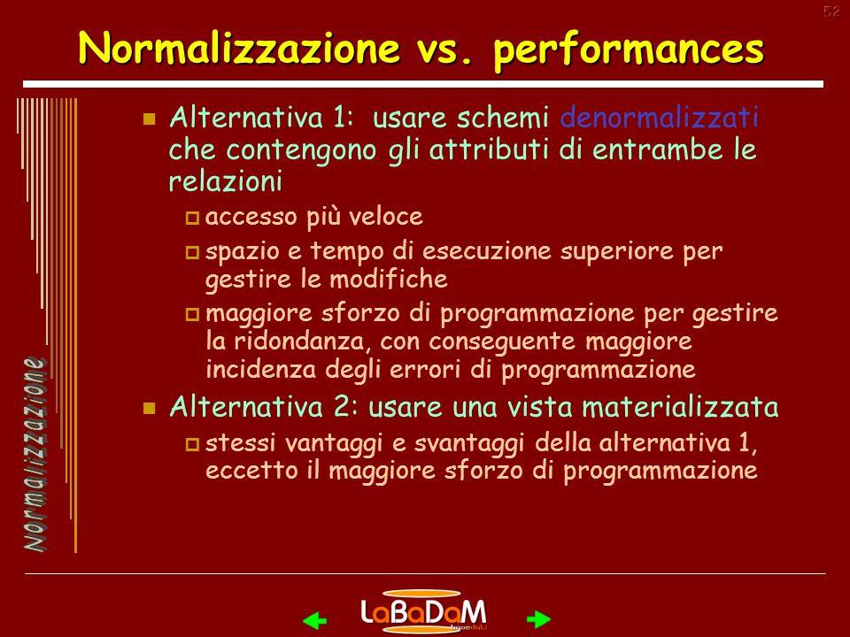 52 Normalizzazione vs.