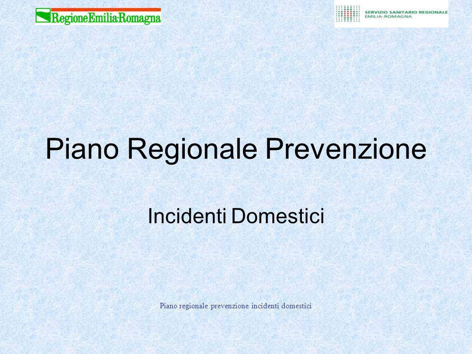 Piano regionale prevenzione incidenti domestici Piano Regionale Prevenzione Incidenti Domestici
