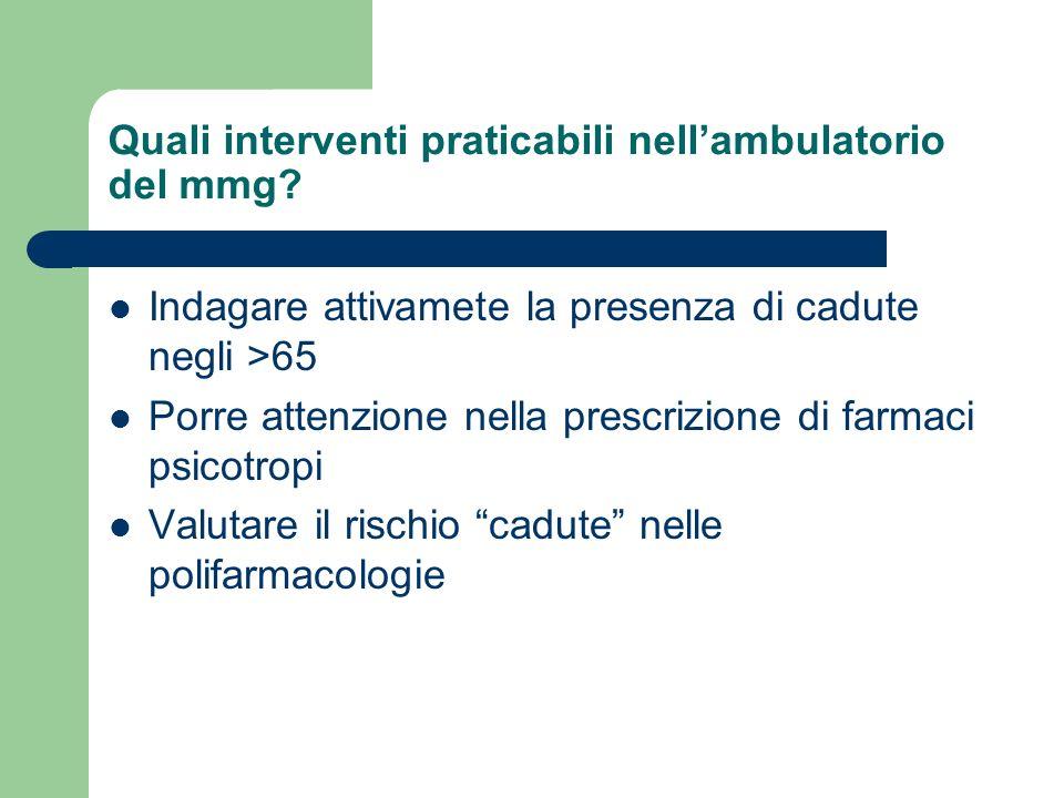 Quali interventi praticabili nellambulatorio del mmg.
