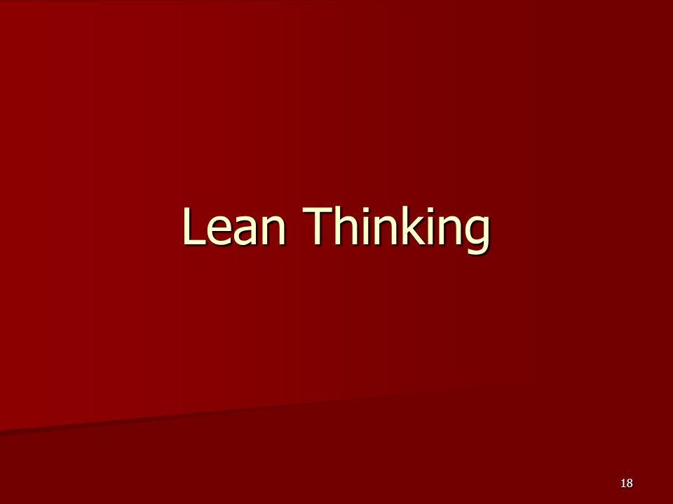 18 Lean Thinking
