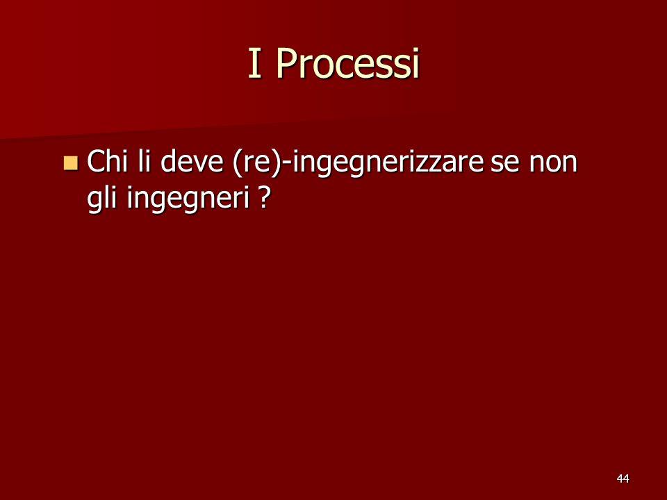 44 I Processi Chi li deve (re)-ingegnerizzare se non gli ingegneri .