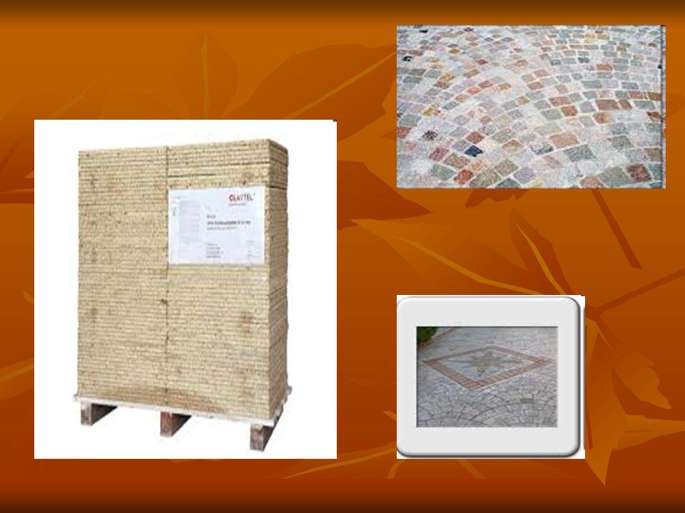 Rivestimenti e pavimentazioni Per rivestimenti e pavimentazioni la pietra è impiegata in forma di massello, lastre segate, lastre naturali e cubetti.