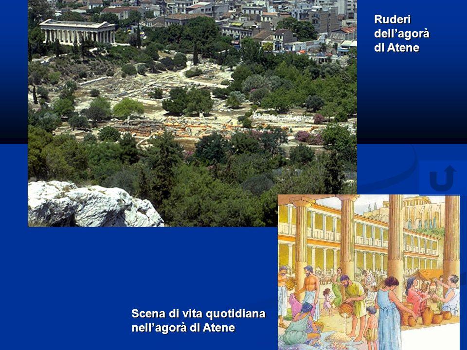 Ruderi dellagorà di Atene Scena di vita quotidiana nellagorà di Atene