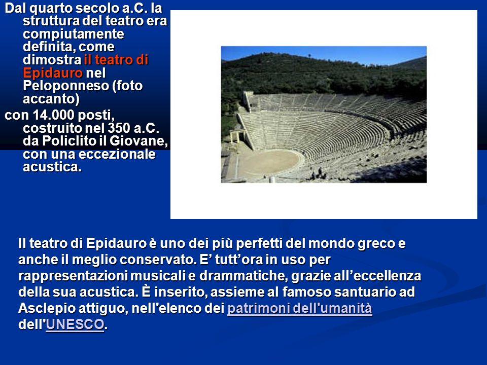 I teatri greci non erano concepiti come strutture monumentali, ma esclusivamente funzionali.