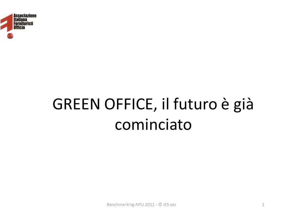 GREEN OFFICE, il futuro è già cominciato Benchmarking AIFU 2011 - © IES sas1