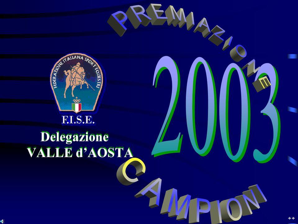 Campionato Regionale 2003 PONY – A2 1° 1° Andrea TOUSCO 2° 2° Francesco MASSONE 3° 3° Franziska VIARIN 1° 1° Andrea TOUSCO 2° 2° Francesco MASSONE 3° 3° Franziska VIARIN E N D U R A N C EE N D U R A N C E