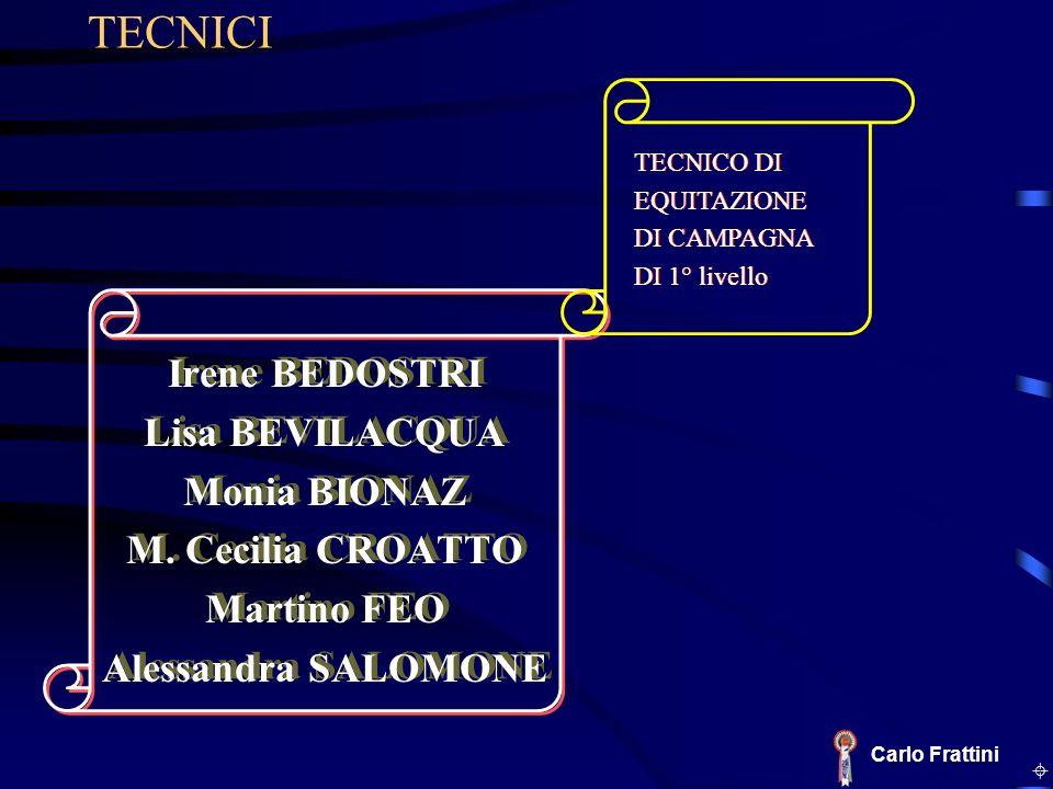 Irene BEDOSTRI Lisa BEVILACQUA Monia BIONAZ M. Cecilia CROATTO Martino FEO Alessandra SALOMONE Irene BEDOSTRI Lisa BEVILACQUA Monia BIONAZ M. Cecilia