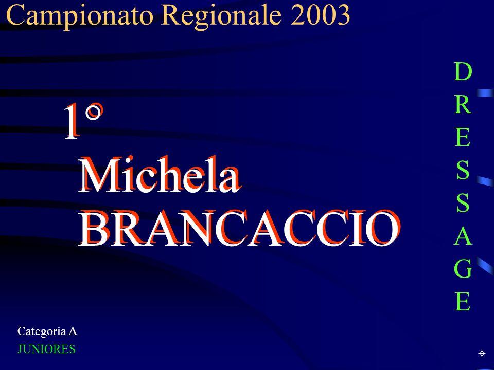 Categoria B Juniores 1° Erik PERRON Campionato Regionale 2003 DRESSAGEDRESSAGE