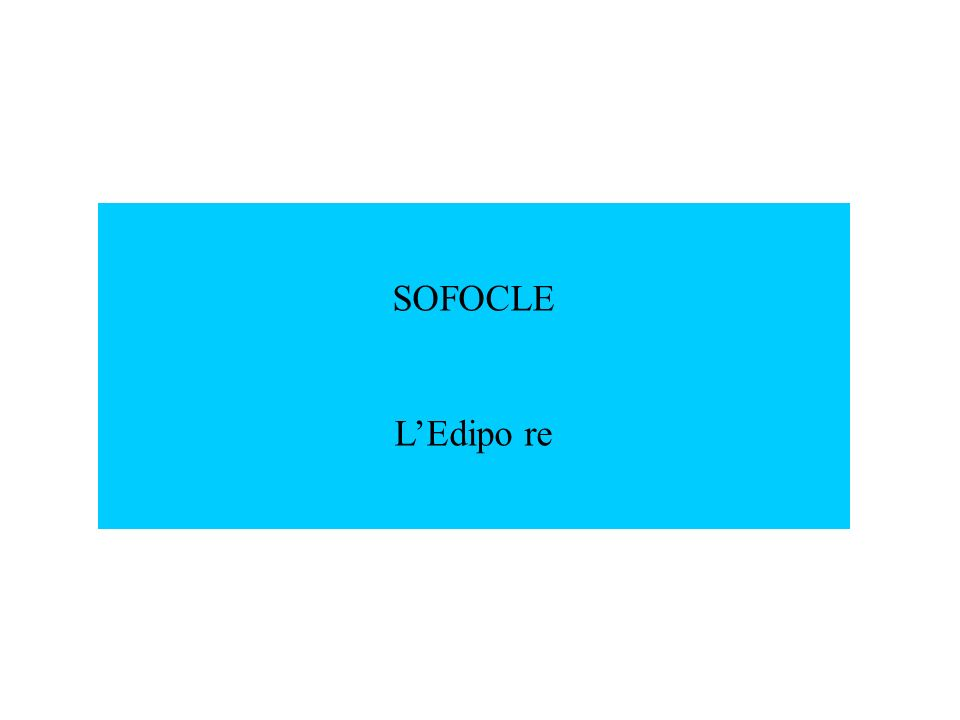 SOFOCLE LEdipo re