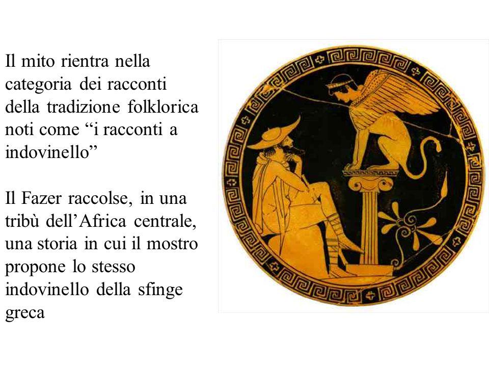 Il mito rientra nella categoria dei racconti della tradizione folklorica noti come i racconti a indovinello Il Fazer raccolse, in una tribù dellAfrica