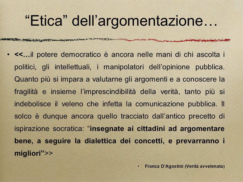Etica dell argomentazione… > Franca DAgostini (Verità avvelenata)