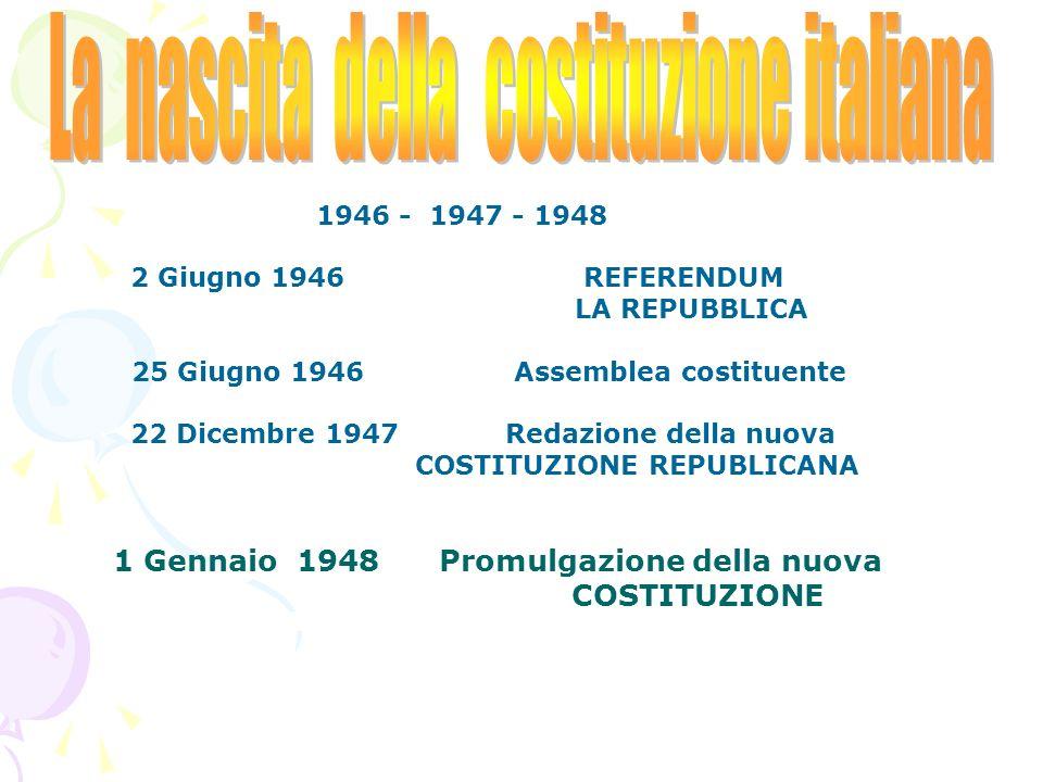 La Costituzione È la legge fondamentale dello stato italiano e definisce i diritti e i doveri dei cittadini e lordine dello stato ma… quando è nata?