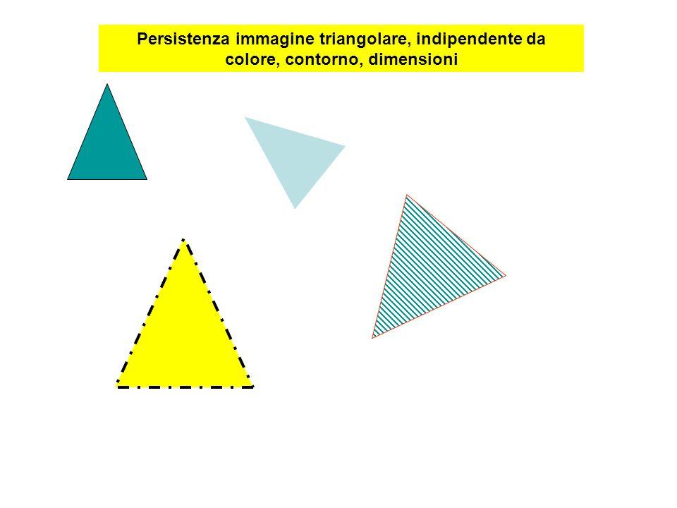 Persistenza immagine triangolare, indipendente da colore, contorno, dimensioni